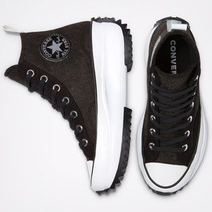 Men Converse Run Star Hike High-Top Felt Sneakers